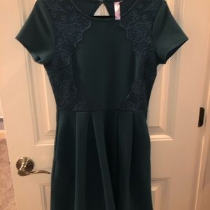Green holiday dress